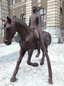 Jezdec před radnicí