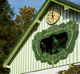 Ptačí orloj Zoo Liberec