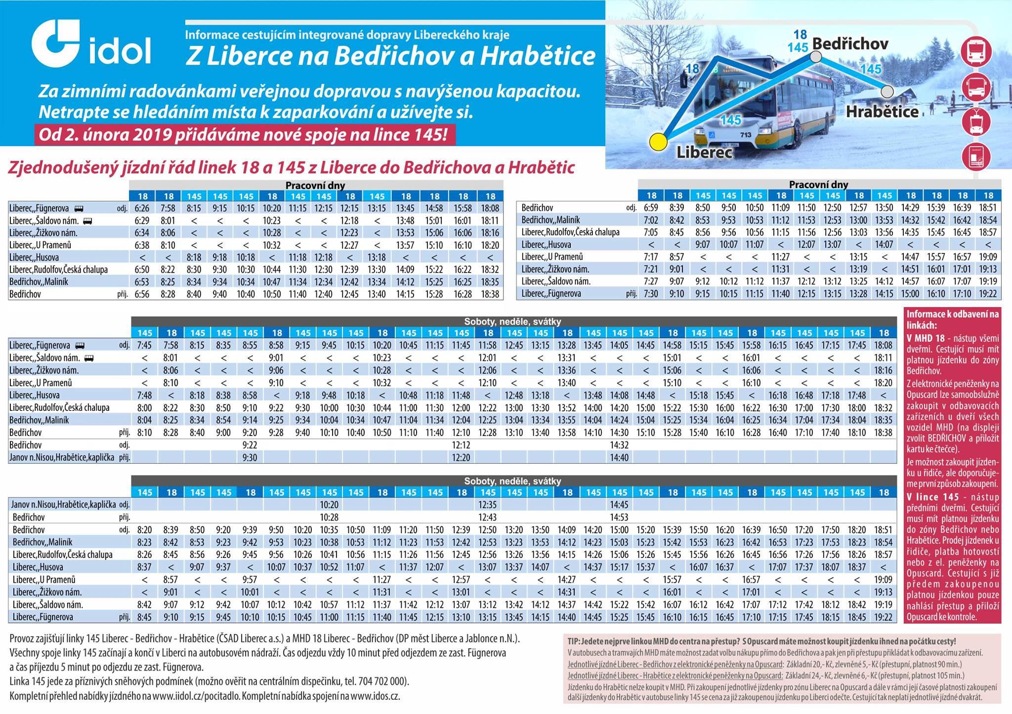 Bus Liberec - Bedřichov