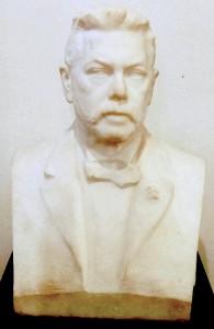 busta Heinricha Liebiega v Severočeském muzeu v Liberci