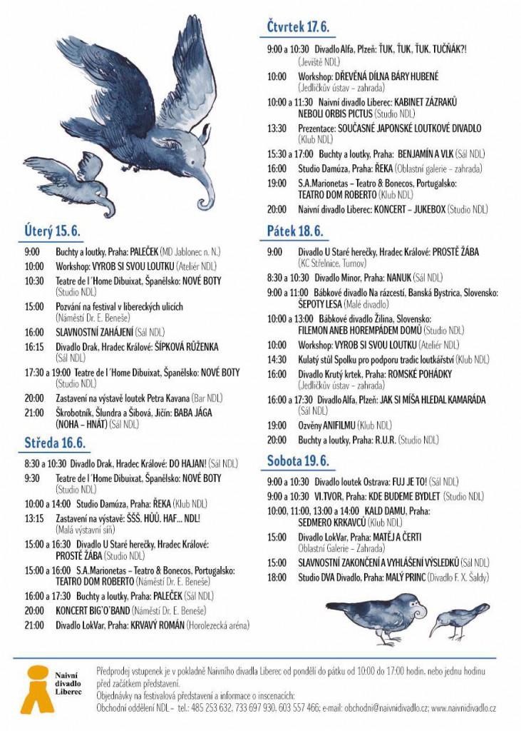 Program festivalu Mateřinka