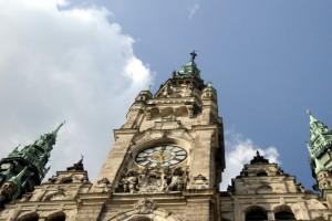 Radniční rytíř na vrcholku hlavní věže